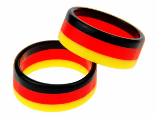 FAN Ring Deutschland (2-er Pack) schwarz / rot / gold, by MTS shoecare