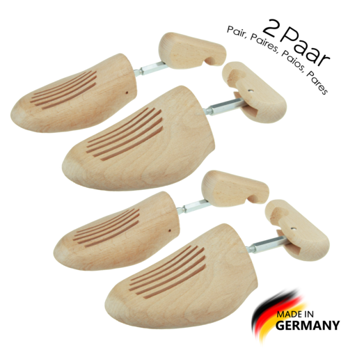 Max No. 3 Premium Schraubleisten Buche, by MTS shoecare, (Set 2 Paar) made in Germany